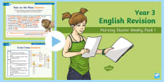 Year 3 English Revision Morning Starter Weekly PowerPoint Pack 1