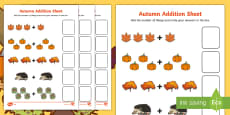 Autumn Addition Sheet