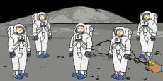 Five Little Astronauts Counting Song Cut Outs
