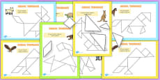 Tangram Animals Activity Booklet
