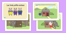 The Three Little Pigs Story French