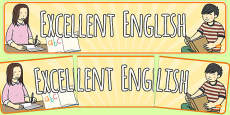Excellent English Display Banner
