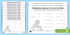 Multiplication Tables Missing Numbers Activity Sheet