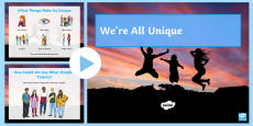 We're All Unique! PowerPoint