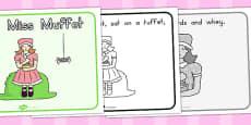Little Miss Muffet Story Sequencing (Australia)
