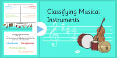 Classifying Musical Instruments PowerPoint