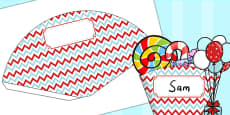 Zig Zag Birthday Party Food Cones Red And Blue
