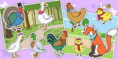 Chicken Licken Story Cut Outs