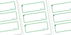 Opal Themed Editable Drawer-Peg-Name Labels (Blank)