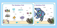 Word Mat (Images) to Support Teaching on The Rainbow Fish