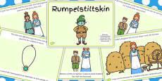 Rumpelstiltskin Story Sequencing A4 EAL Romanian Translation Version