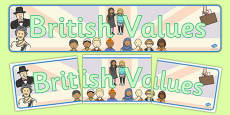 British Values Display Banner