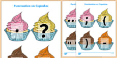 Punctuation Marks on Cupcakes (A4)
