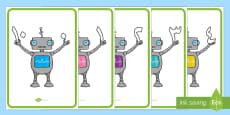 ملصقات الرجل الآلي لمكونات العدد 10