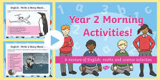 Year 2 Morning Activities PowerPoint