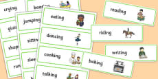 Two Syllable Final 'ng' Sound Word Cards