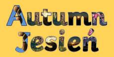 Autumn Photo Display Lettering Polish Translation