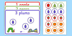 Read and Count Game to Support Teaching on The Very Hungry Caterpillar