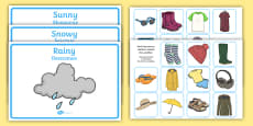 Weather Clothes Sorting Activity English/Polish