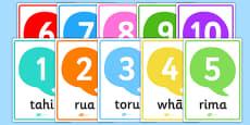 Numbers 1-10 Posters Te Reo Māori