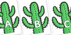 A-Z Alphabet on Cactus