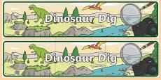 Dinosaur Dig Display Banner