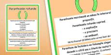 Paranteze rotunde - Planșă informativă