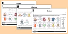 French Clothes 1 Activity Sheet