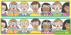 * NEW * Feelings and Emotions Display Banner English/Spanish