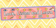 Look Listen and Learn Display Banner