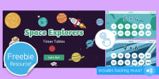 Space Explorers: Times Tables Game