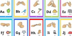 British Sign Language Image Display Posters