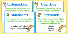 Types of Sentence Prompt Cards