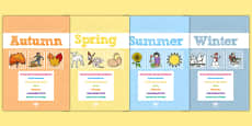 EYFS Learning Journey Record Termly Dividers