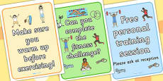 Gym Role Play Posters