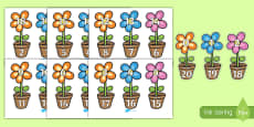Number Bonds to 20 on Flowers and Pots