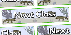 Newt Themed Classroom Display Banner