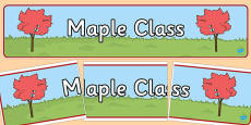 Maple Class Display Banner
