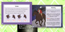 The Sounds of the Highwayman Differentiated Lesson Teaching Pack
