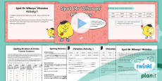 PlanIt Y2 Term 2A Assess and Review Spelling Pack