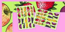 Fruit Salad Display Borders