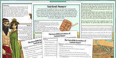 Incredible Inventions of Ancient Sumer Differentiated Reading Comprehension Activity