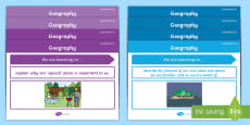 Foundation Australian Curriculum Geography Content Descriptors Posters Display Pack