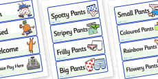 Pant Shop Role Play Labels to Support Teaching on Aliens Love Underpants