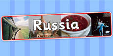 Russia Photo Display Banner
