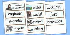 Isambard Kingdom Brunel Word Cards