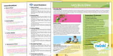 Geography: Lets Go To China Year 2 Planning Overview CfE