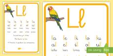* NEW * Cartilla de lectura: La letra L Hoja informativa