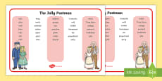 Word Mat to Support Teaching on The Jolly Postman