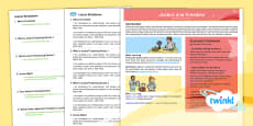 Second Level RME Year 6 Justice and Freedom CfE PlanIt Overview